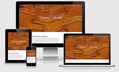 The Boorse Collection of Contemporary Violins responsive website