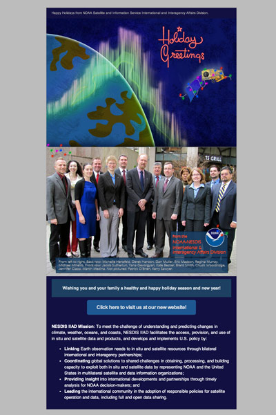NOAA Satellite and Information Service International and Interagency Affairs Email Campaign